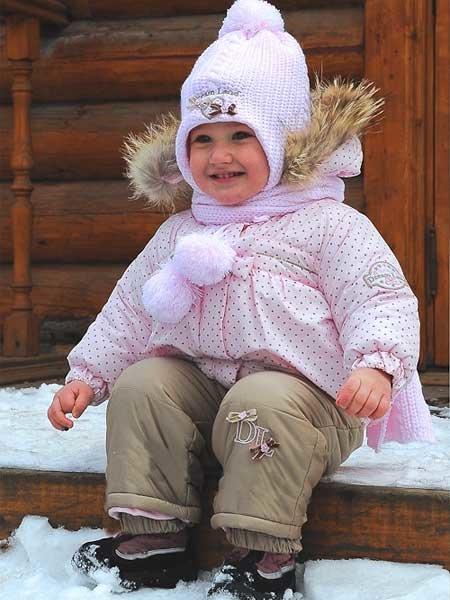 девочка в зимнем костюме