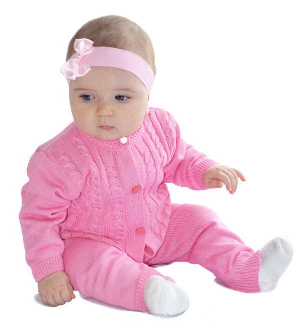 вязаный костюм для девочки косы розовый хлопок купить в москве в