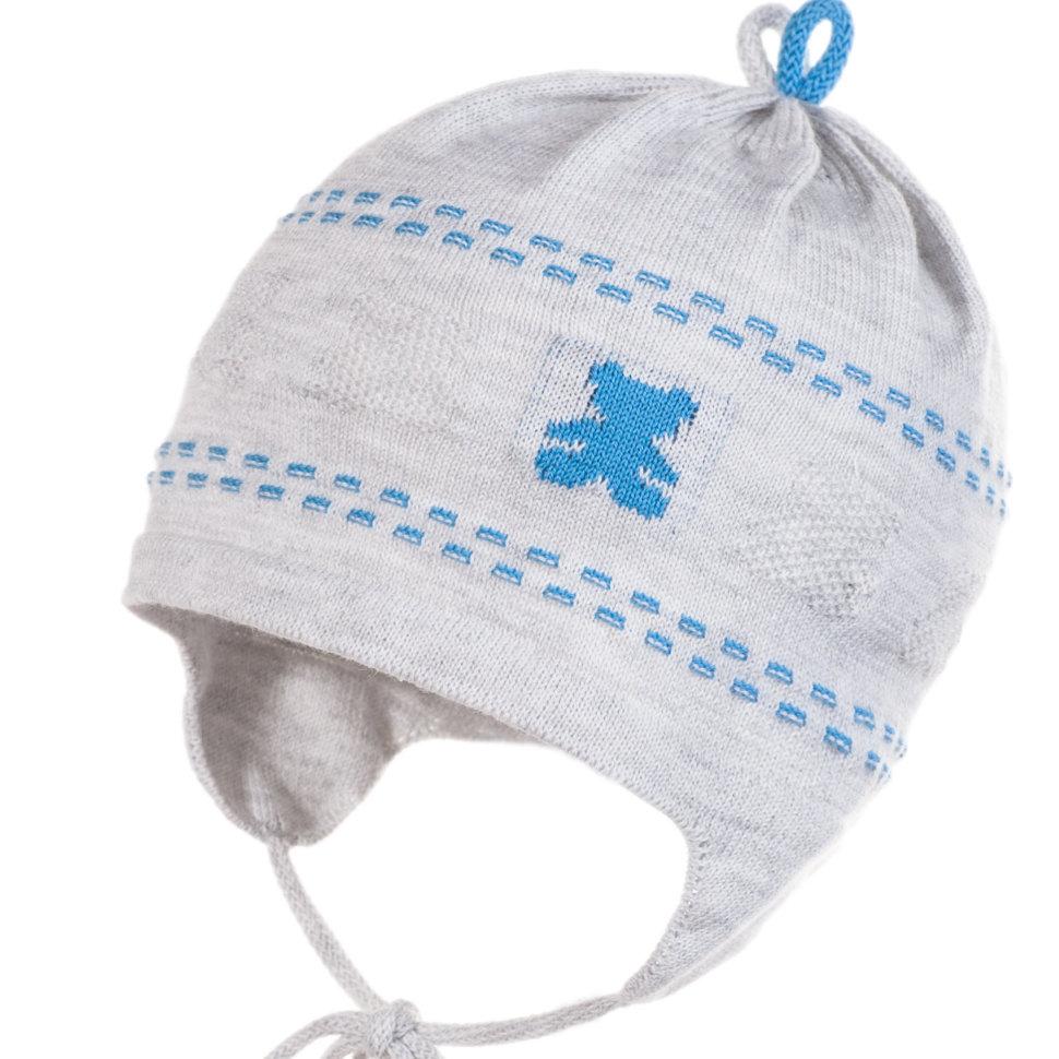 Вязаная шапочка для мальчика Jamiks Bambino купить в Москве в ... 89eedda3f2cd9