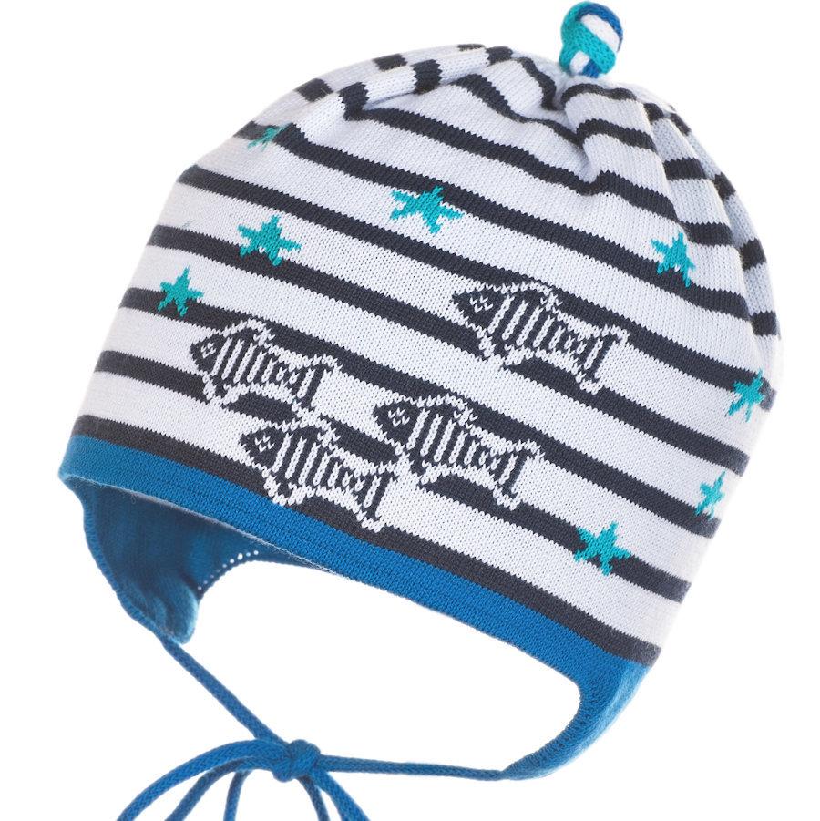 Полосатая шапочка с завязками для мальчика Jamiks Fish купить в ... 7ac7416c02caf