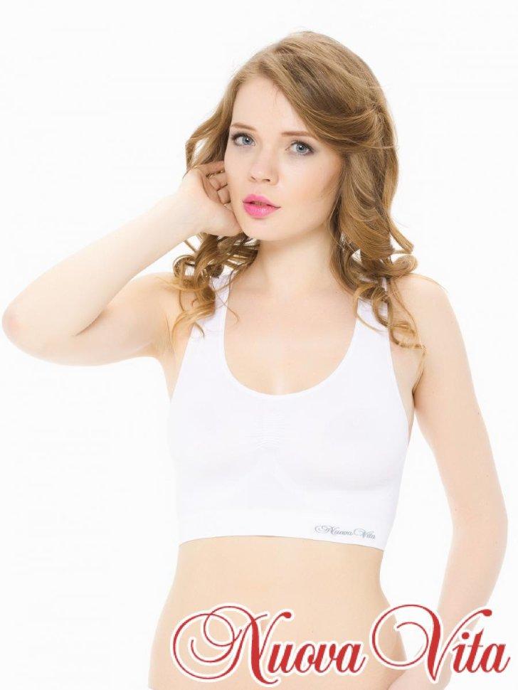 Белый бюстгальтер-топ для беременных Nuova Vita купить в Москве в ... 9d3499e1229